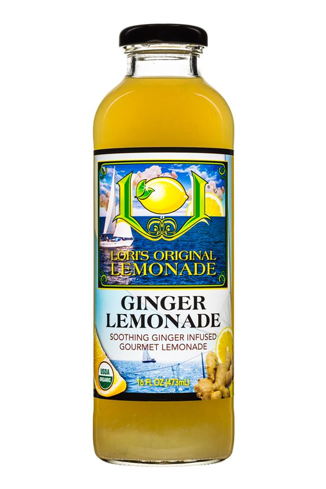 Lori's Original Lemonade: LorisOGLemonade-16oz-GingerLemonade-Front