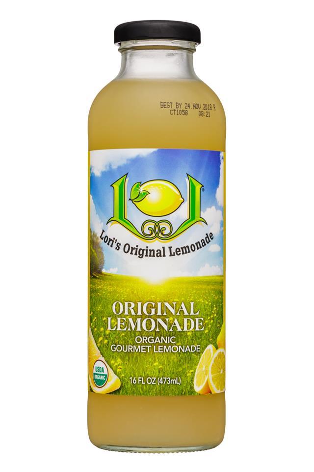 Lori's Original Lemonade: LorisOriginalLemonade-16oz-Original-Front