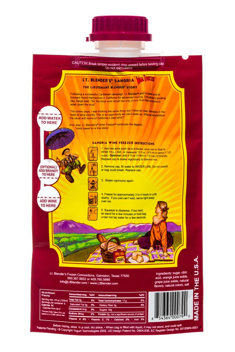 Lt Blender: LtBlenders-1l-WineFreezer-Sangria-Facts