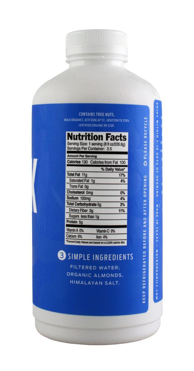 MALK Organics: Malk LG Unsweet Facts