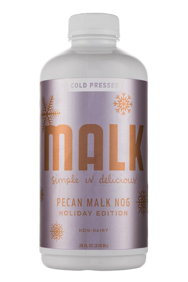MALK Organics: MALK-PecanMalkNog-28oz-Front