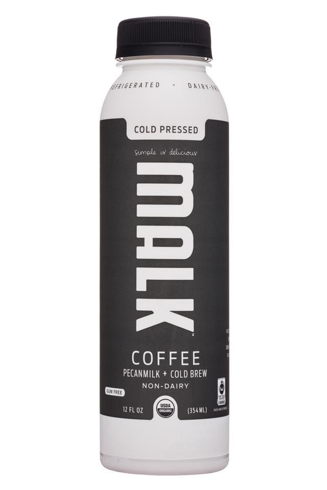 MALK Organics: Malk-12oz-PecanMilk-Coffee-Front