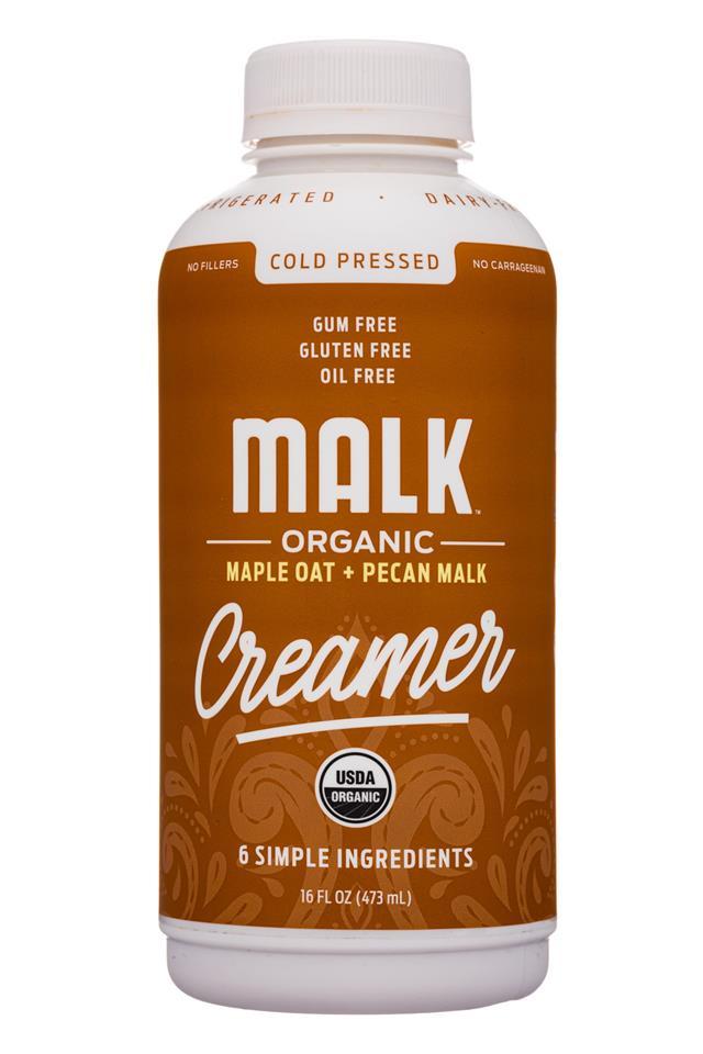 MALK Organics: Malk-16oz-Creamer-MapleOatPecan-Front