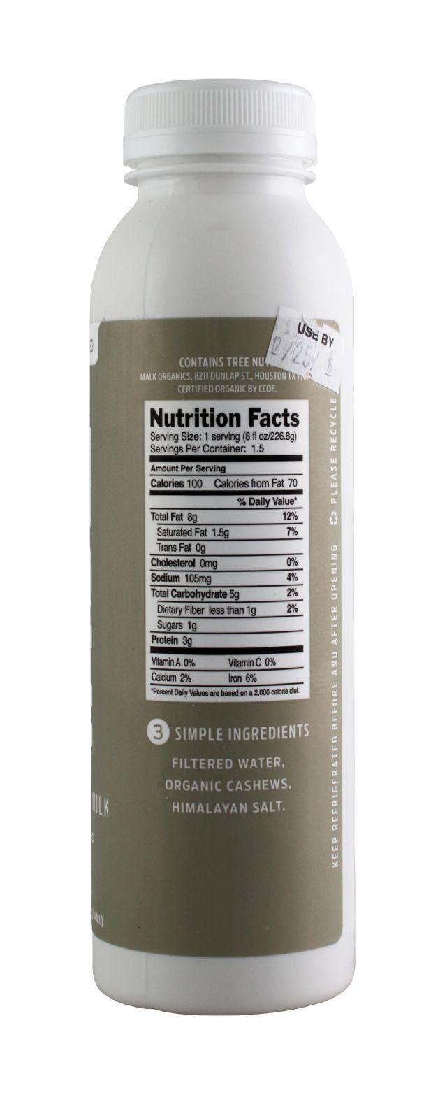 MALK Organics: Malk Cashew Fact