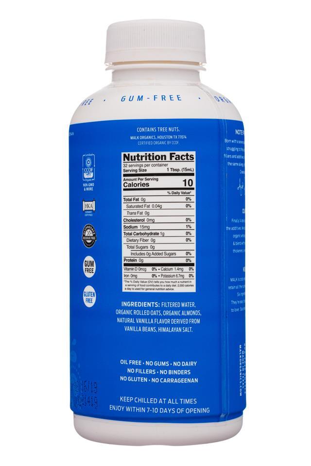 MALK Organics: Malk-16oz-Creamer-UnsweetOatAlmond-Facts