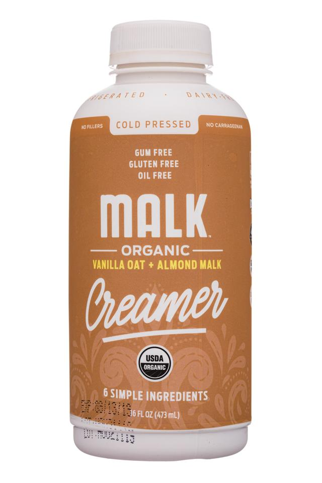 MALK Organics: Malk-16oz-Creamer-VanillaOatAlmond-Front