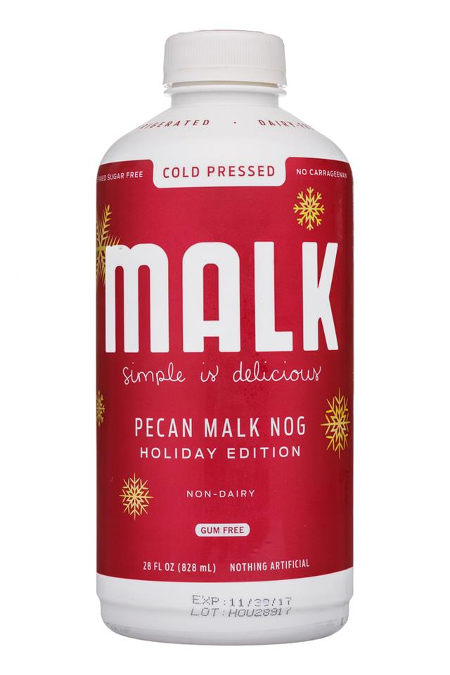 MALK Organics: Malk-28oz-PecanMalkNog-Front