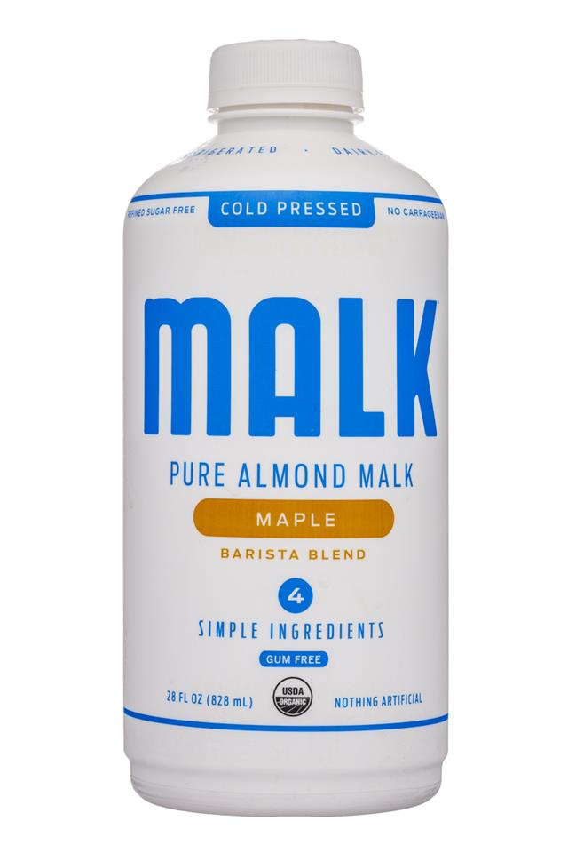 MALK Organics: Malk-28oz-Almond-Maple-Front
