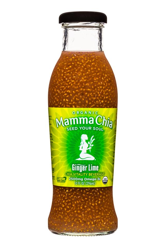 Mamma Chia Organic Vitality Beverages: MammaChia-10oz-GingerLime-Front