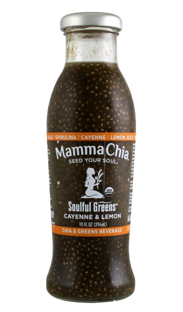Mamma Chia Organic Vitality Beverages: MC-SoulfulGreen_CayenneLemon-front