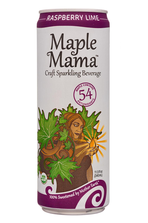 MapleMama: MapleMama-12oz-2020-SparklngBev-RaspLime-Front