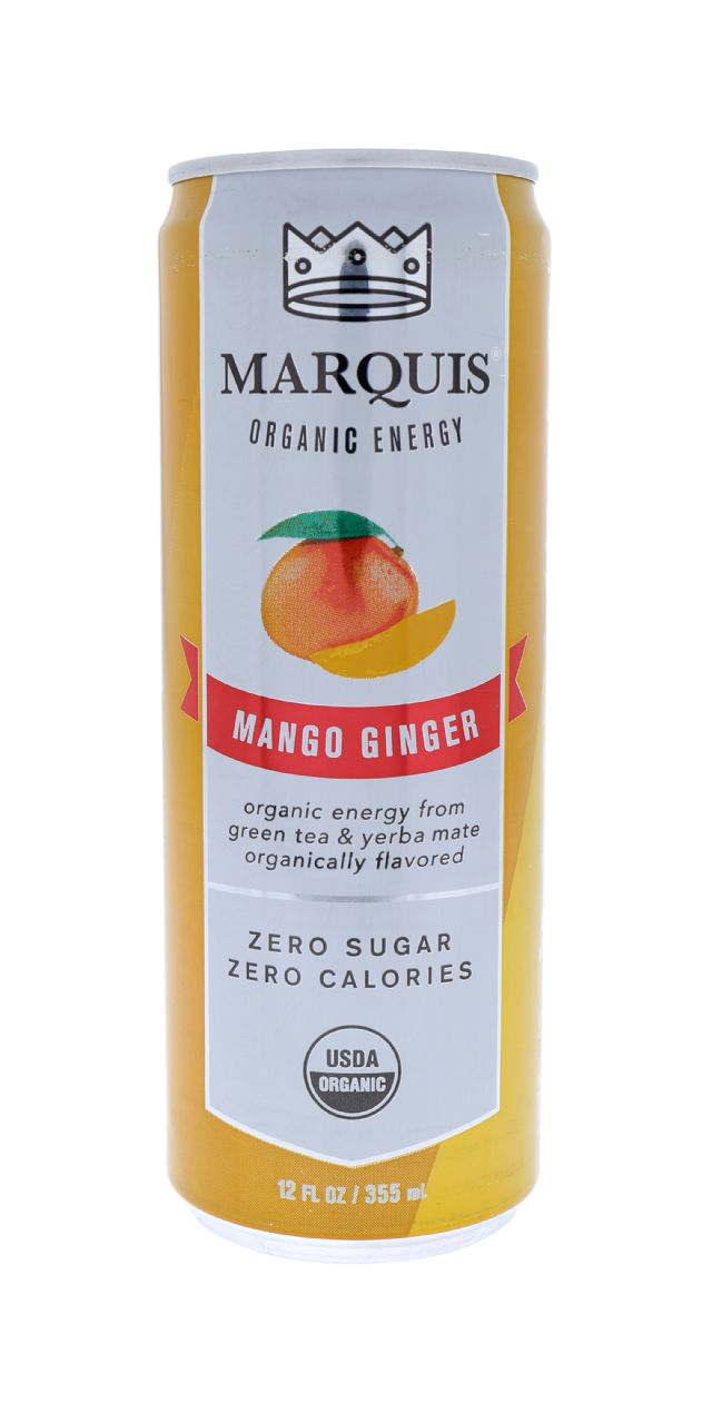 Marquis Organic Energy: Marquis MangoGinger Front