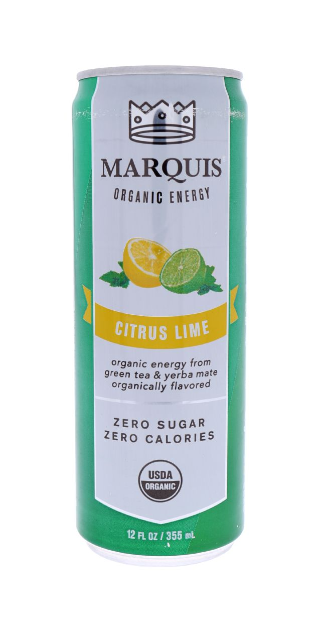 Marquis Organic Energy: Marquis CitrusLime Front