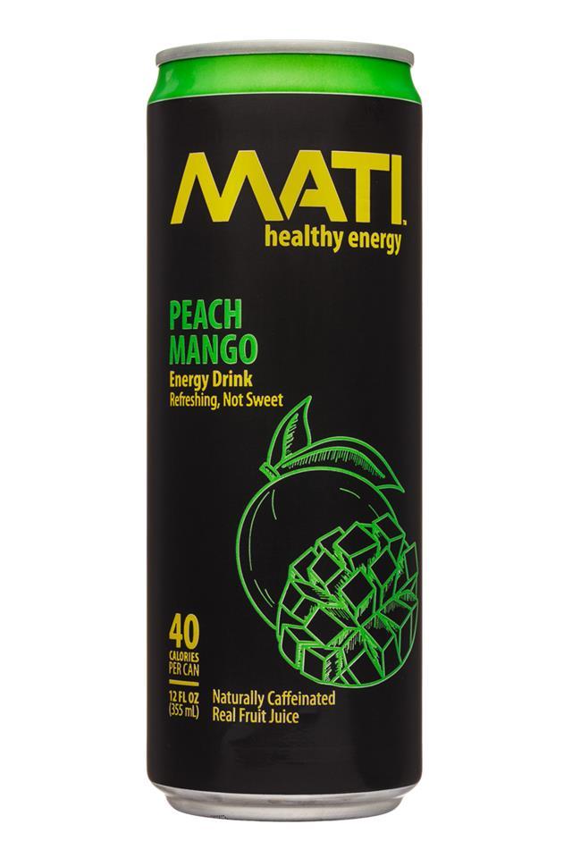Mati Energy : Mati-12oz-EnergyDrink-PeachMango-Front