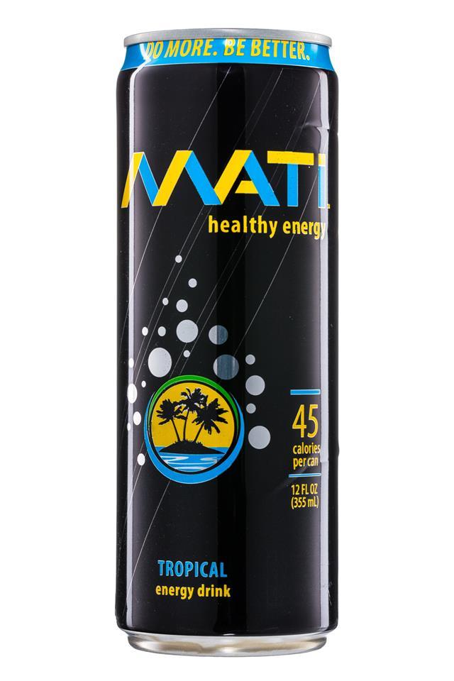 Mati Energy : Mati-HealthyEnergy-12oz-Tropical-Front