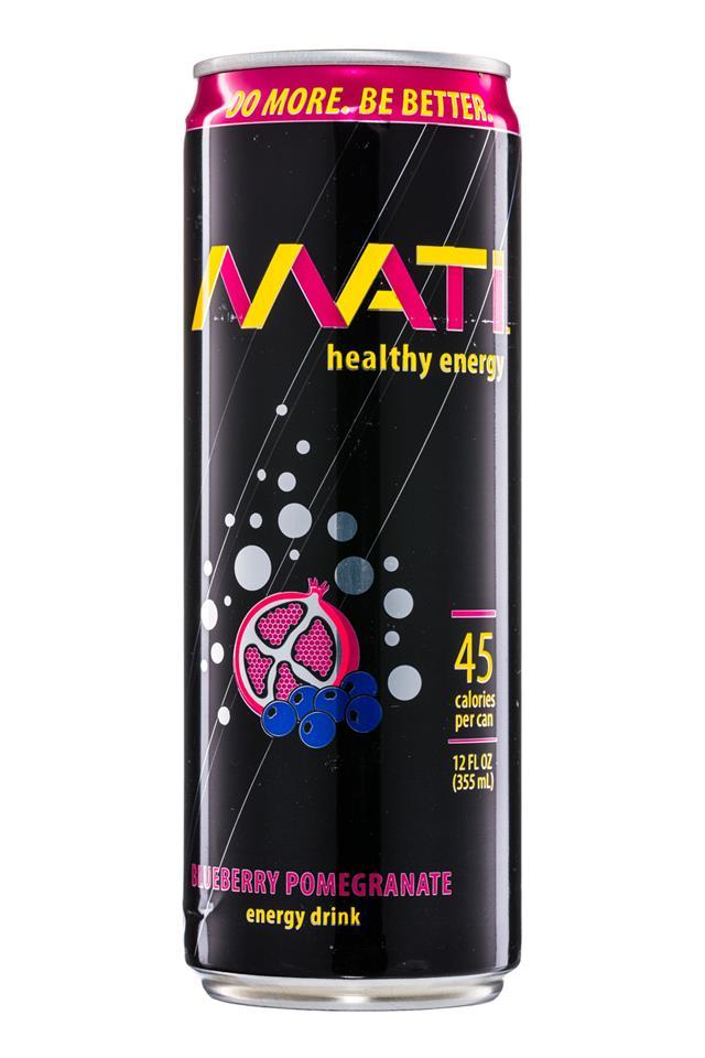MATI: Mati-HealthyEnergy-12oz-BlueberryPomegranate-Front