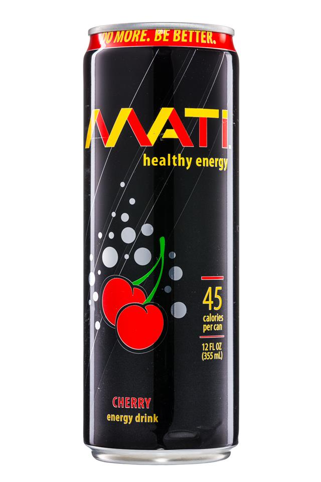Mati Energy : Mati-HealthyEnergy-12oz-Cherry-Front