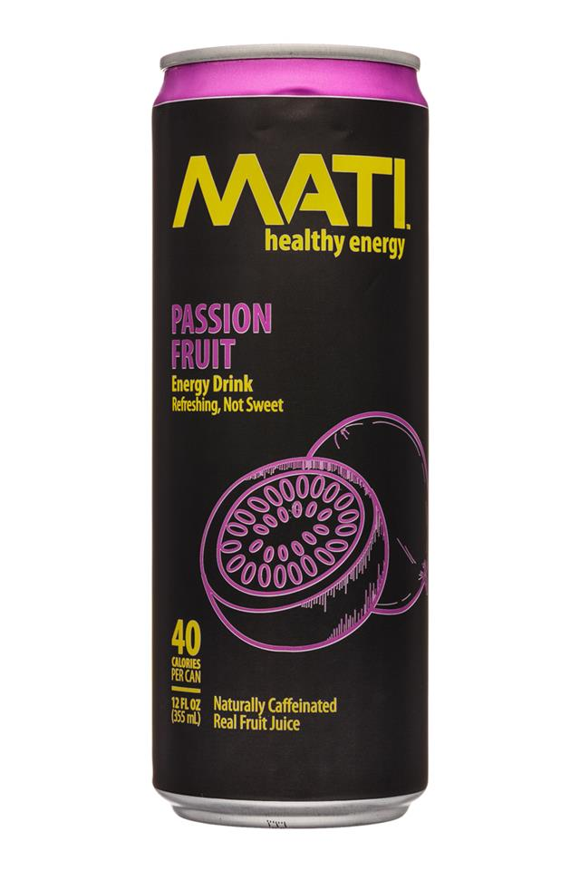 Mati Energy : Mati-12oz-EnergyDrink-PassionFruit-Front