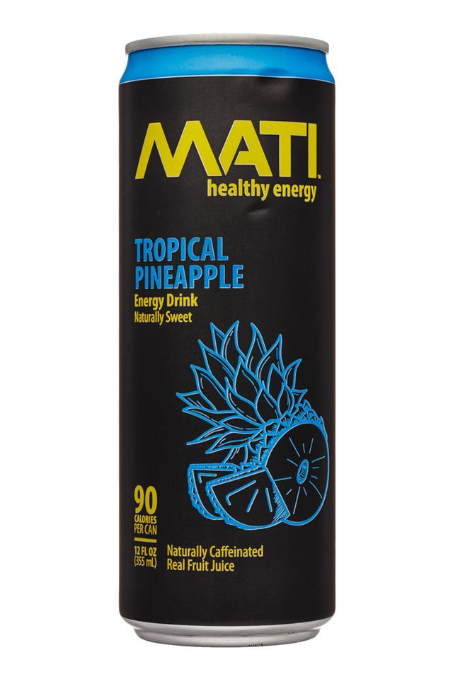 Mati Energy : Mati-12oz-EnergyDrink-TropicalPineapple-Front