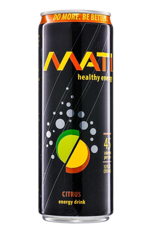 Mati Energy : Mati-HealthyEnergy-12oz-Citrus-Front