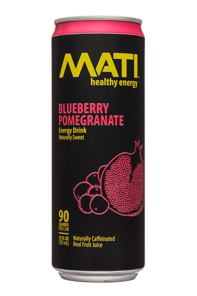 Mati Energy : Mati-12oz-EnergyDrink-BluebPomegranate-Front