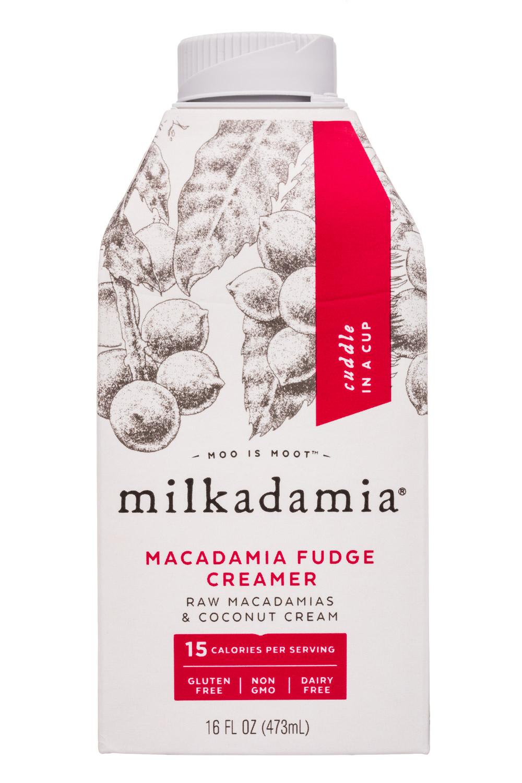 Milkadamia: Milkadamia-16oz-Creamer-MacadamiaFudge-Front