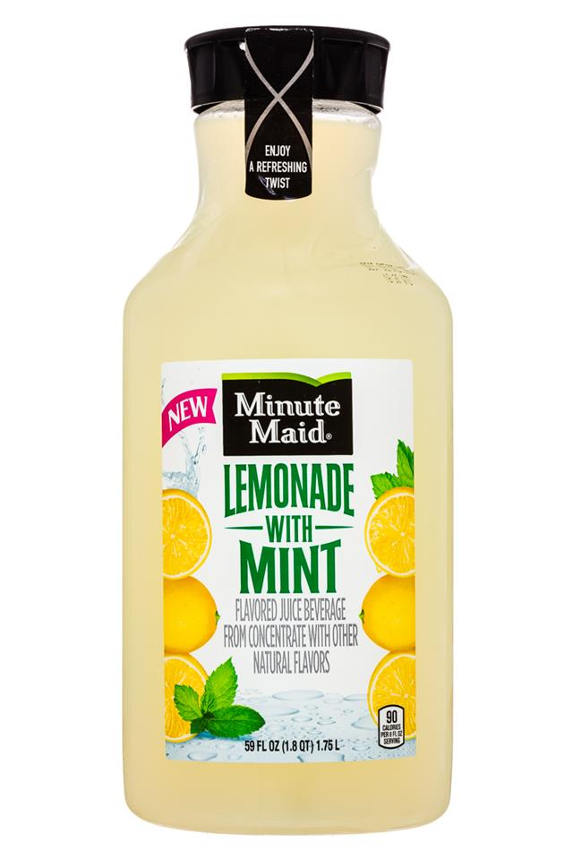 Minute Maid Juices: MinuteMaid-59oz-LemonadeMint-Front