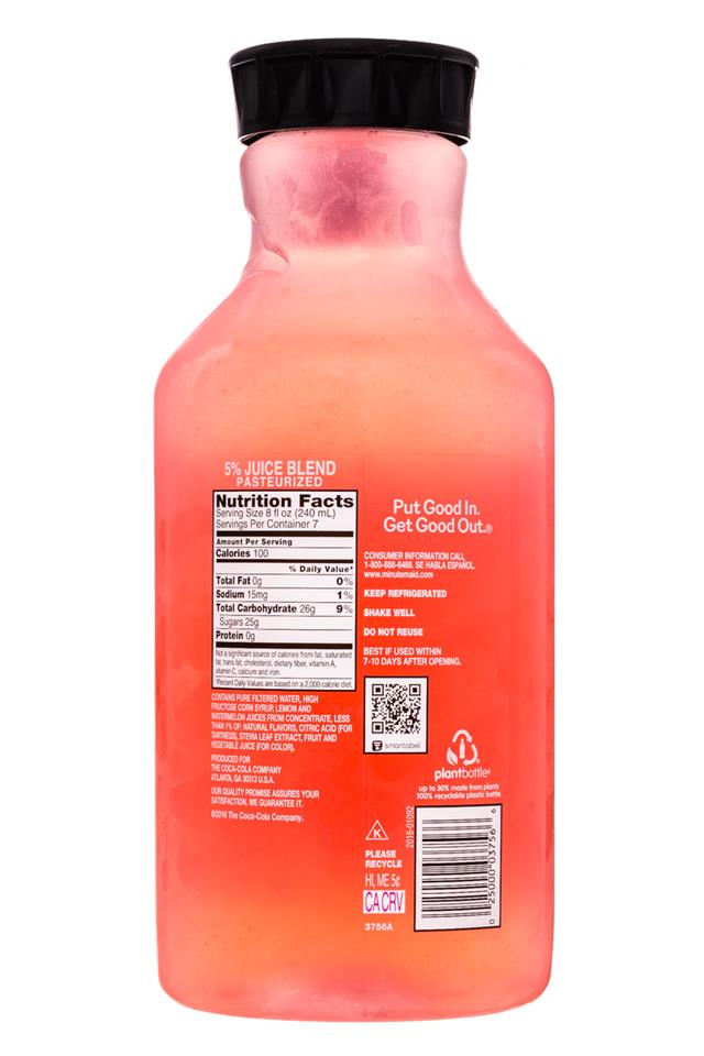 Minute Maid Juices: MinuteMaid-59oz-Spicy-WatermelonLemonade-Facts