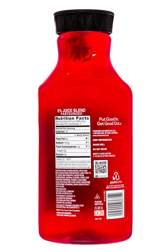 Minute Maid Juices: MinuteMaid-59oz-Light-FruitPunch-Facts