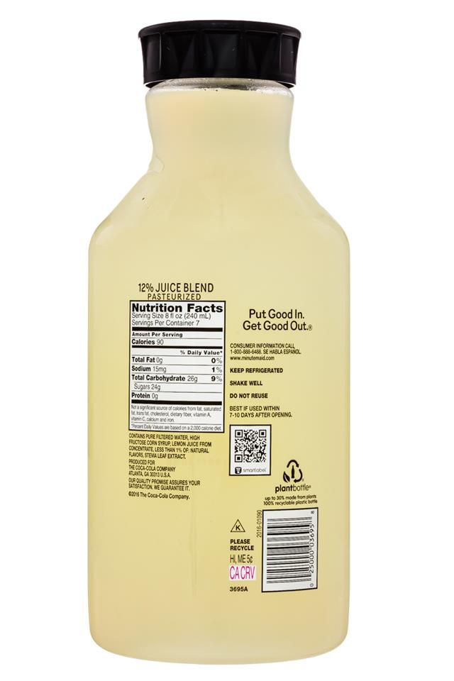 Minute Maid Juices: MinuteMaid-59oz-LemonadeMint-Facts