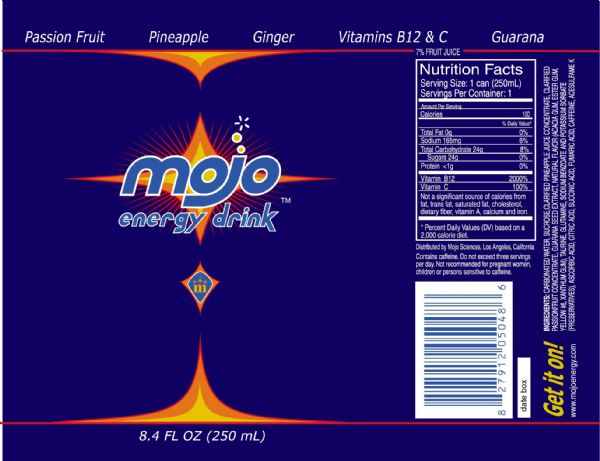 Mojo Energy Drink: Full Can design