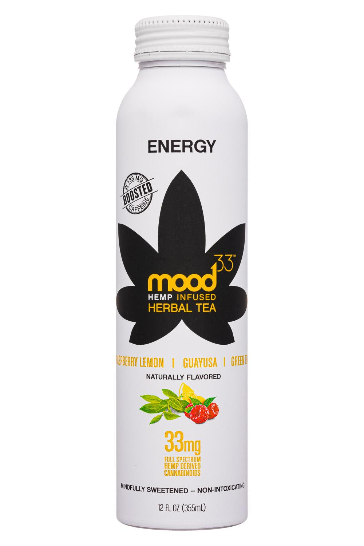 Mood33: Mood33-12oz-InfusedHerbalTea-Energy-Front