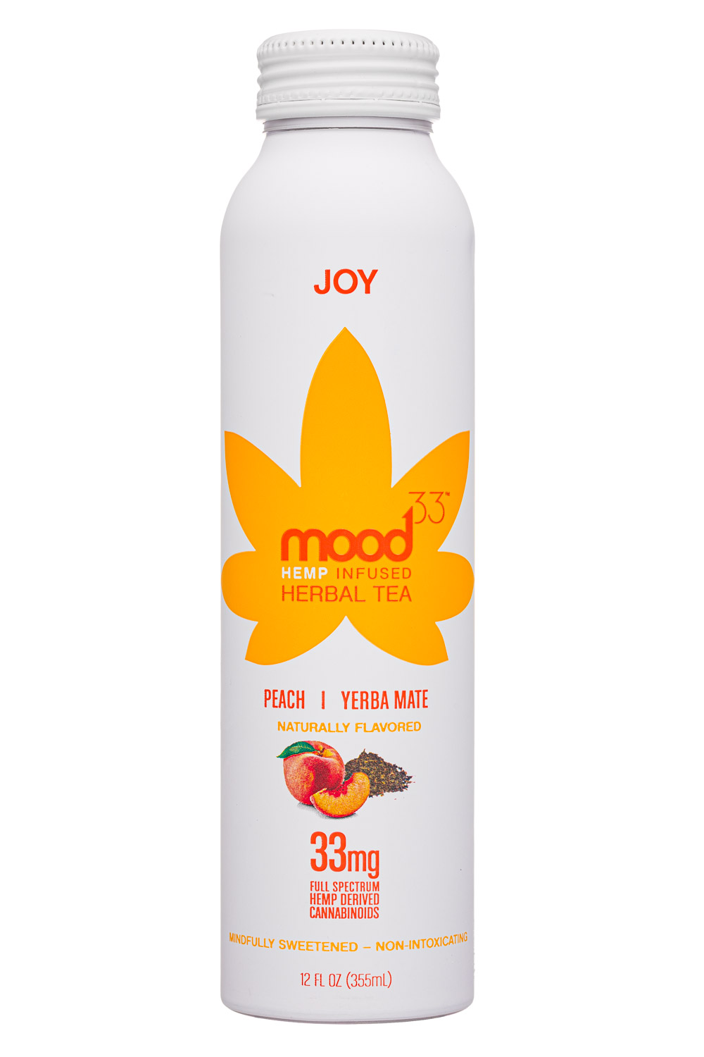 Mood33: Mood33-12oz-InfusedHerbalTea-Joy-Front