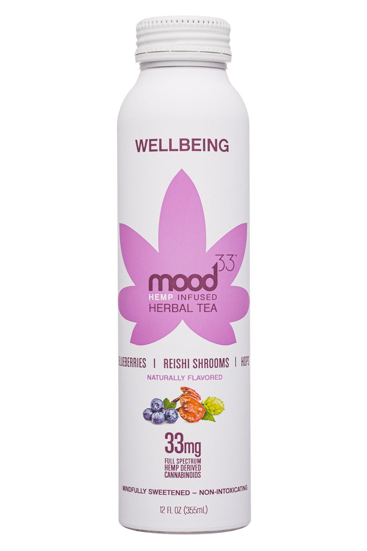 Mood33: Mood33-12oz-InfusedHerbalTea-Wellbeing-Front