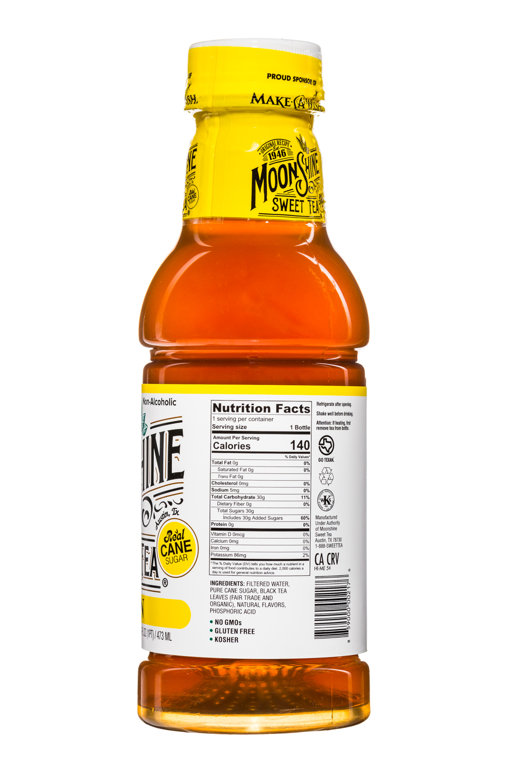 MoonShine Sweet Tea LLC: MoonshineSweetTea-16oz-Lemon-Facts