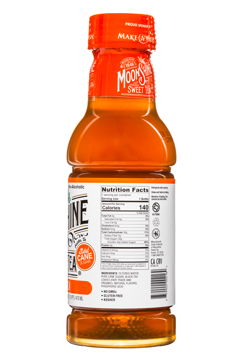 MoonShine Sweet Tea LLC: MoonshineSweetTea-16oz-Mango-Facts