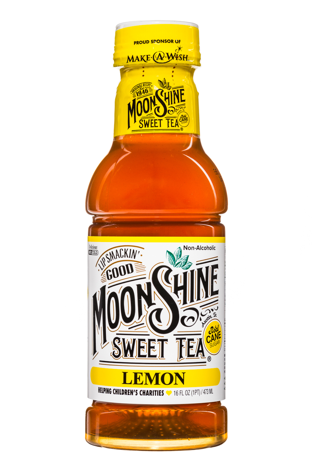 MoonShine Sweet Tea LLC: MoonshineSweetTea-16oz-Lemon-Front