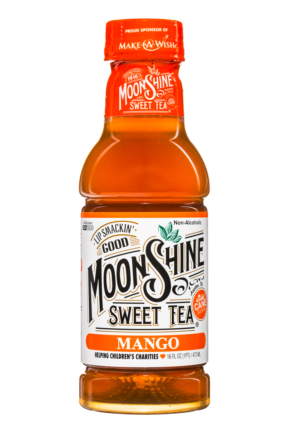 MoonShine Sweet Tea LLC: MoonshineSweetTea-16oz-Mango-Front