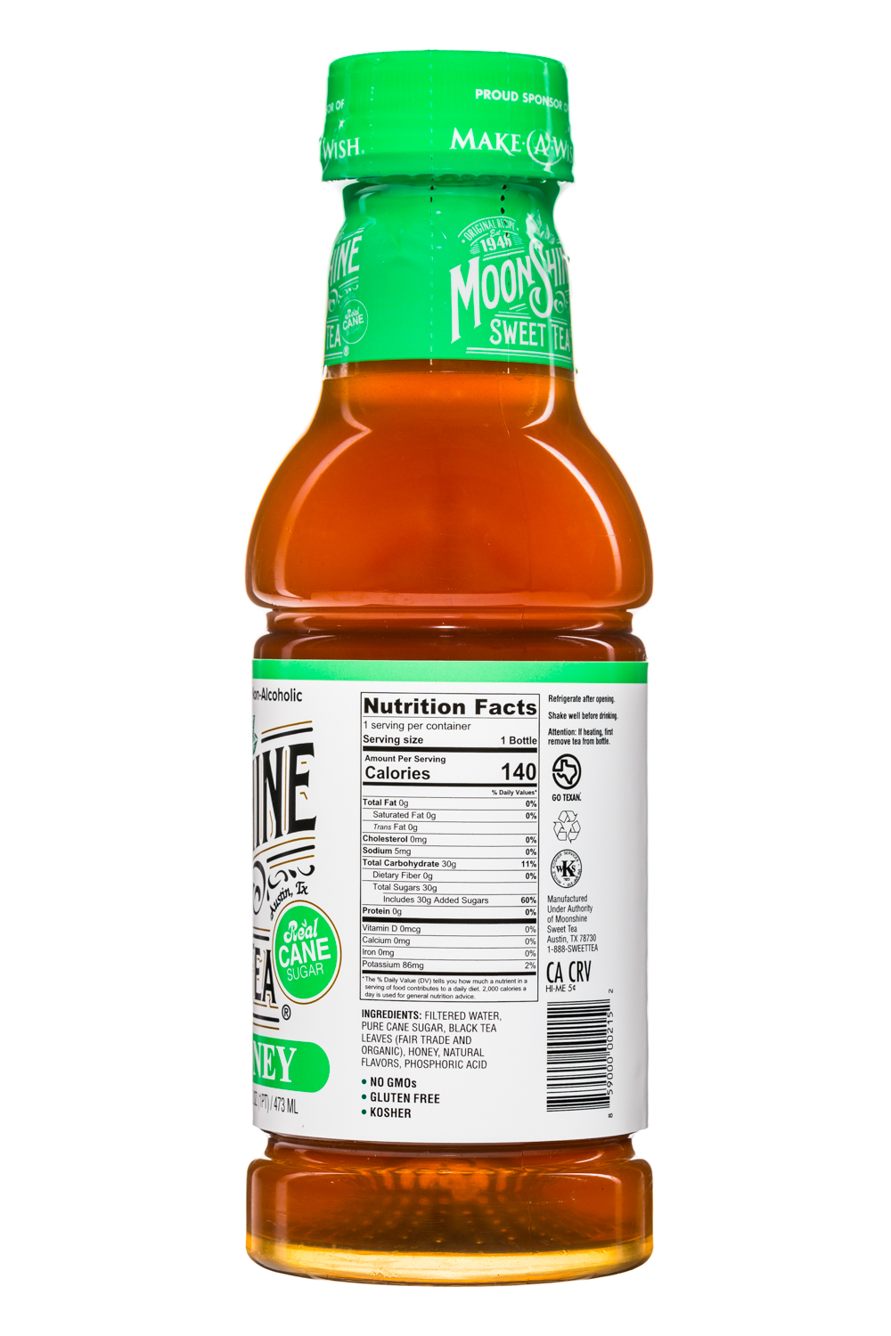 MoonShine Sweet Tea LLC: MoonshineSweetTea-16oz-MintHoney-Facts
