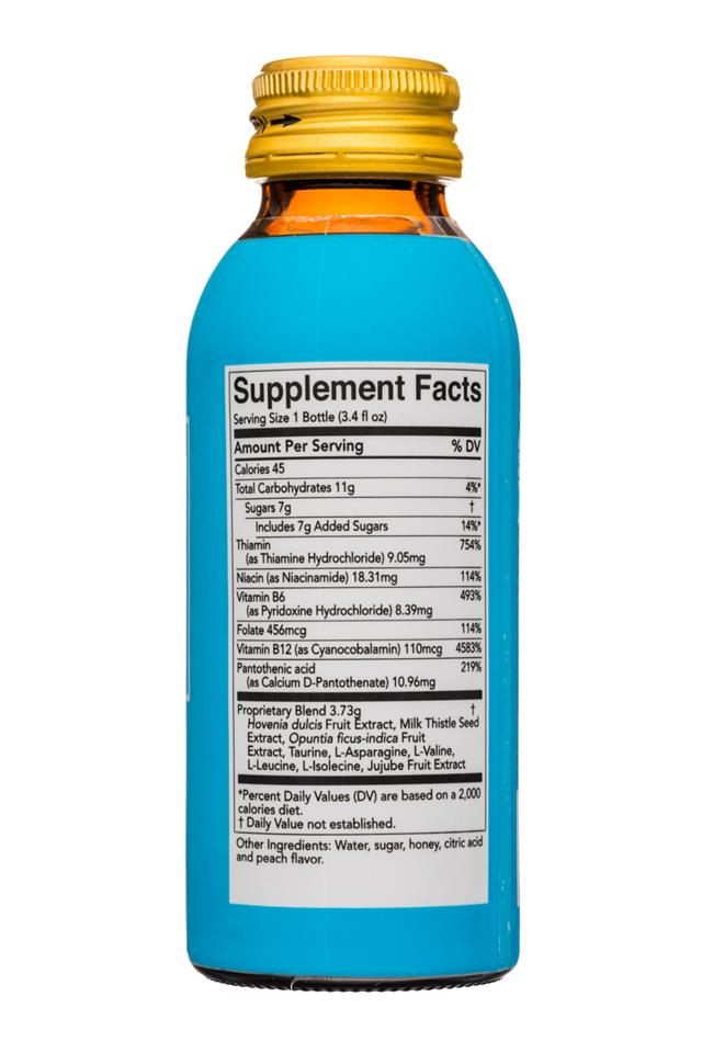 Morning Recovery Drink: MorningRecovery-3oz-DietarySupplement-Facts