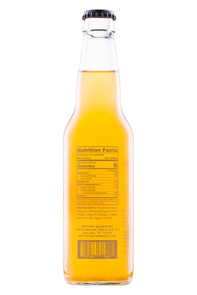 Mother Beverage: Mother-12oz-OrangeCinnamon-Facts