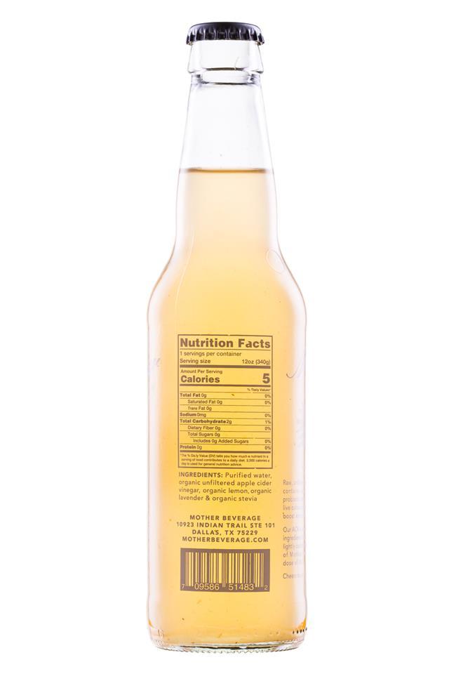 Mother Beverage: Mother-12oz-LavenderLemon-Facts
