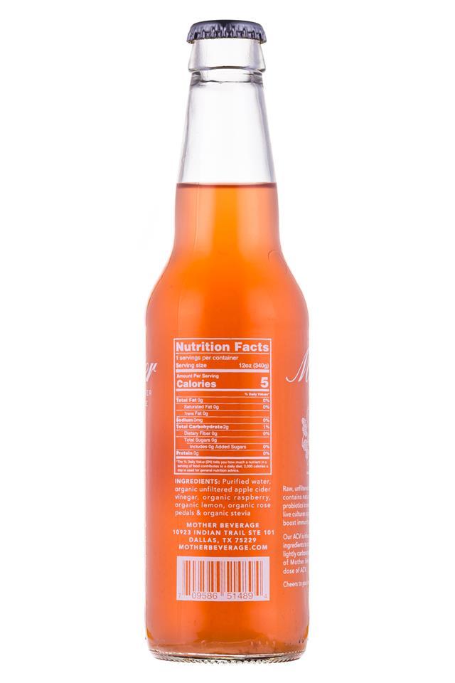 Mother Beverage: Mother-12oz-RaspberryRose-Facts