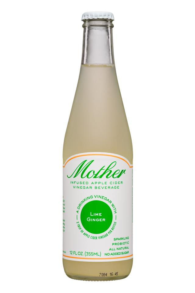 Mother Beverage: Mother-12oz-SparklingACV-LimeGinger-Front