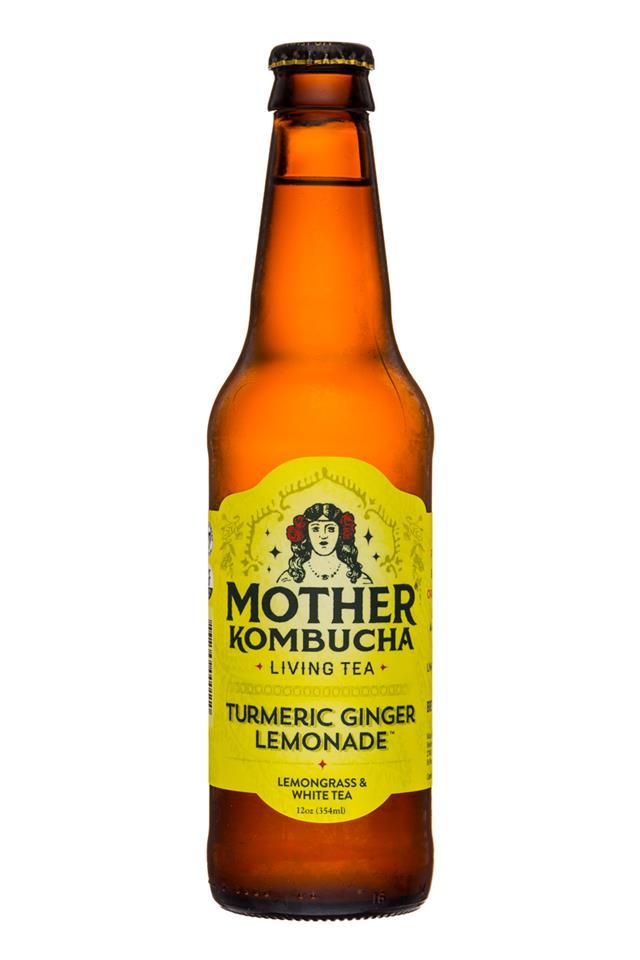 Mother Kombucha: Mother-Kombucha-12oz-TurmericGinger-Front