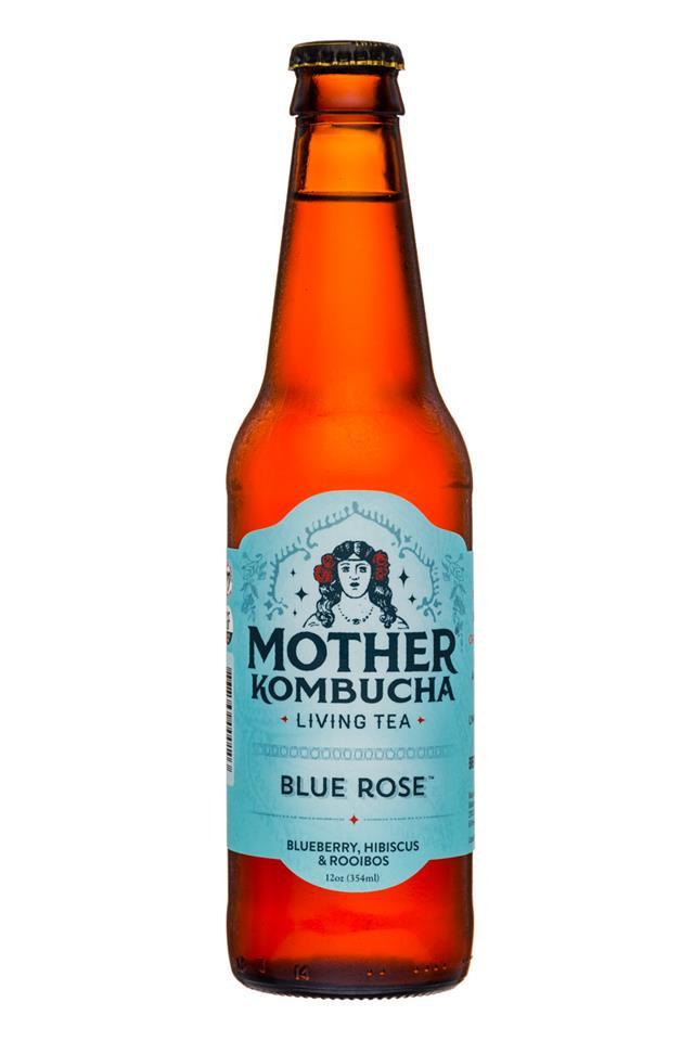 Mother Kombucha: Mother-Kombucha-12oz-BlueRose-Front