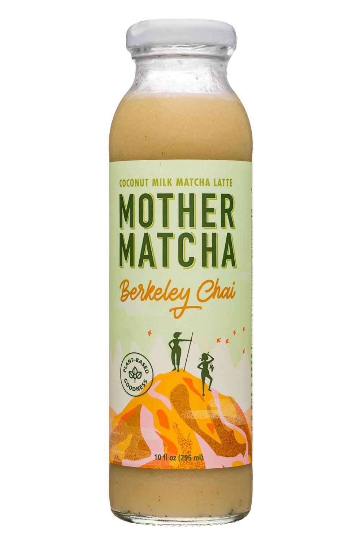 Mother Matcha: MotherMatcha-10oz-CoconutMatchaLatte-BerkeleyChai-Front