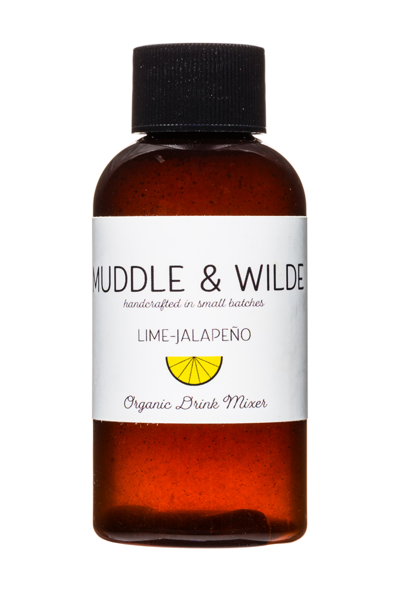 Muddle & Wilde: MuddleAndWilde-4oz-Mixer-LimeJalapeno-Front