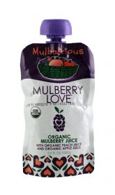 Organic Mulberry with Peach and Apple