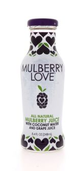 All Natural Mulberry Juice with Coconut Water and Grape Juice